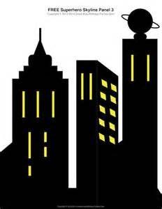 Free Superhero Printables - #Superhero building skyline, 4 ...