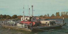 NW Ironton Boyne City MI Famous Lake Charleviox Cable Type Car Ferry South Arm of Lake at the Narrows became Famous when found by Ripleys Believe It or Boyne City, Lake Huron, Retro Cars, Willis Tower, North West, Michigan, Past, Believe, Memories