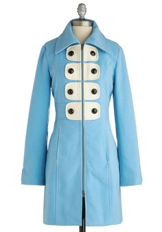 love this, but i would get it dirty so fast! Love all the coats on   modcloth.com