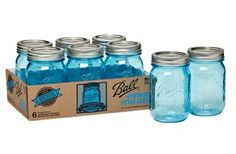 Design a beautiful vintage wedding using these collectable blue mason jars.The Ball® American Heritage Collection Blue Mason Jars are offered for a limited time only. Each jar measures 5 inches tall and 2.75 inches in diameter. 6 mason jars with lids per pack. http://www.afloral.com/Floral-Supplies/Floral-Containers
