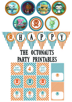 Eli's party theme was a no brainer. He loves the Octonauts and since we have a pool and were planning on a swim party it was the perfect. 6th Birthday Parties, Third Birthday, Boy Birthday, Birthday Ideas, Octonauts Party, Ocean Party, Party Printables, Free Printables, First Birthdays