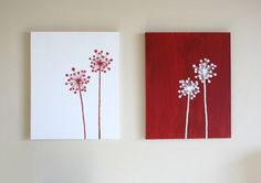 inverse dandelion paintings $45.