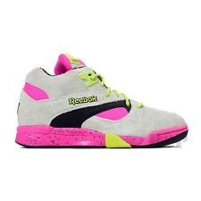 64b5158d0a4c Reebok Court Victory Pump (Snow Grey Dark Pink Green Black) Men s