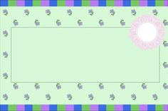 Floral Lilac, Green and Blue - Full Kit with frames for invitations, labels for goodies, souvenirs and pictures!