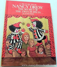 Jenn's Nancy Drew Collection - Twin Puppets Picture Book - www.nancydrewsleuth.com Josie And The Pussycats, Nancy Drew Books, Nancy Drew Mysteries, Betty And Veronica, Book Illustrations, Archie, Puppets, Detective, Twins
