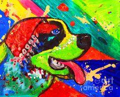 Bernard Pop Art by Julia Fine Art dogs, colorful painting Pug Pop Art, Dog Art, St Bernard Dogs, Kids Room Art, Colorful Paintings, Animal Paintings, Unique Art, Fine Art America, Abstract Print