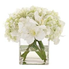 NDI Faux Amaryllis & Hydrangea Arrangement