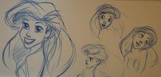 Ariel sketches at Art of Animation Resort in Walt Disney World