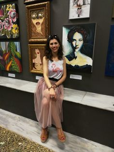 A Great Exhibition at Myro Gallery in Thessaloniki, Greece Thessaloniki, Love Art, Greece, Gallery, Fashion, Roof Rack, La Mode, Fashion Illustrations, Fashion Models