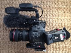 I think the Zacuto Z-finder is essential for the original C100