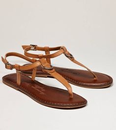 AEO Leather T-Strap Sandal