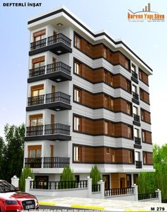 Dış Cephe Tasarımı | Building Renovation, Building Exterior, Building Facade, Building Design, Modern Buildings, Beautiful Buildings, Facade Design, Exterior Design, Residential Architecture