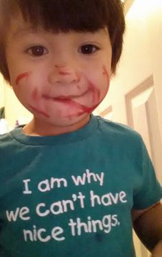 """""""Never have I seen a shirt so true, until I put this one on my kid."""" -Redbern  http://tumblr.tastefullyoffensive.com/"""