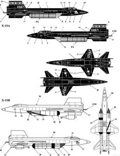 North American X-15 rocket-powered aircraft
