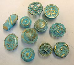 FREE SHIPPING Drawer Pulls Knobs Collection 11 Aqua by prettyware