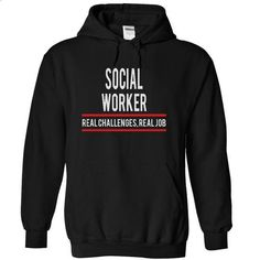 SOCIAL WORKER - real job - #design shirts #street clothing. BUY NOW => https://www.sunfrog.com/Funny/SOCIAL-WORKER--real-job-2639-Black-4898694-Hoodie.html?60505