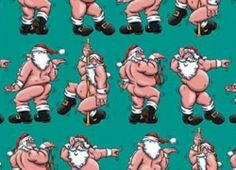 Santa The Stripper Wrapping Paper Funny Christmas Holiday Gift Wrap | eBay