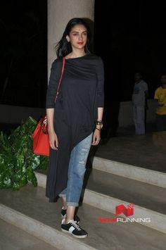 Aditi Rao Hydari - Wrap up bash of the film Bhoomi with Sanjay Dutt and cast