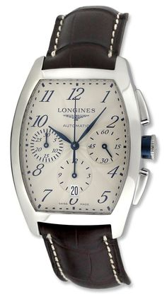 Longines Evidenza Automatic Chronograph Silver Dial Stainless Steel Mens Watch L2.643.4.73.4