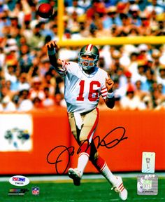 Joe Montana Signed San Francisco 49ers Passing Action 8x10 Photo - PSA/DNA