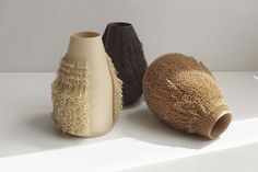 Studio Bold, Poilu vases for Aybar Gallery, 2017