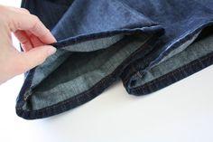 Tutorial: How to Hem Jeans {And Keep The Original Hem}