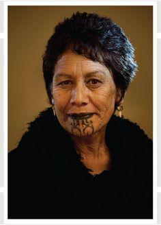 Beautiful Maori lady with ta moko