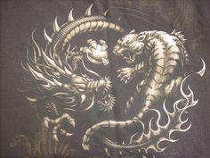 dragon vs tiger power rangers by marcusthedbzking.deviantart.com on @DeviantArt