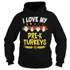 T-shirts I Love My Pre-K Turkeys Teacher Thanksgiving T-Shirt Fashion for Men & Women Hot trend 2018