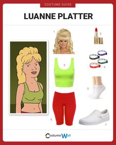 The best costume guide to look just like Luanne Platter, the niece of Hank and Peggy Hill from the Fox animated series King of the Hill. Got Costumes, Great Halloween Costumes, Family Costumes, Costumes For Women, Halloween Diy, Cosplay Costumes, Costume Makeup, Costume Ideas, Happy Halloween