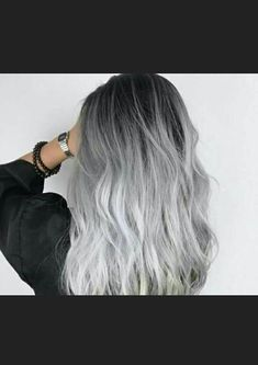 We've gathered our favorite ideas for Loving This Hair Color Hair Hair Long Hair Styles, Explore our list of popular images of Loving This Hair Color Hair Hair Long Hair Styles in grey ombre hair color. Silver Ombre Hair, Brown Ombre Hair, Ombre Hair Color, Hair Color Balayage, Cool Hair Color, Hair Colors, Gray Ombre, Ash Gray Balayage, Pelo Color Ceniza