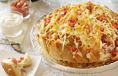 Summer Fresh Appys Recipe - Cheesy Olive Bloomin Bread