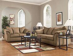 Sofa & Loveseat Set - Mocha - Art Van Furniture