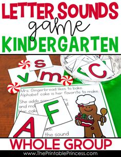 This interactive whole group game helps students practice letter names and letter sounds in fun way! Students chant the poem as a group while one student picks a letter card out of the basket. They identify the name or letter sound of the card they picked. Afterwards, they will return the card to the basket, and pass it on to a friend. You can take turns as many times as time allows.
