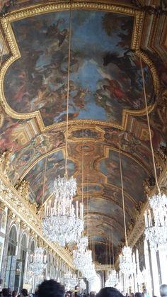 Detalhes do teto - Afrescos. Chateau Versailles - França