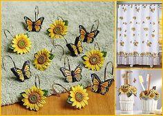 sunflower bathroom door hanging hooks | for the home | pinterest