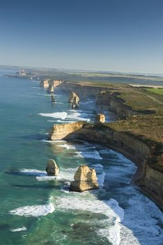 The Twelve Apostles, Great Ocean Road, Victoria, Australia. We have done this trip from Adelaide to Melbourne along the Great Ocean Road - beautiful scenery ~ Places Around The World, Oh The Places You'll Go, Places To Travel, Places To Visit, Travel Destinations, Vacation Places, Travel Deals, Beautiful World, Beautiful Places