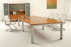 Vera Contemporary Conference Table Make your meeting room a space that allows for endless possibilities with this contemporary #conferencetable.