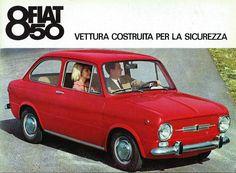 Fiat 850 reclame: vettura sicurezza Fiat 850, Fiat Abarth, Retro Cars, Vintage Cars, Vespa, Volkswagen Golf Mk1, The Italian Job, Good Looking Cars, Fiat Cars