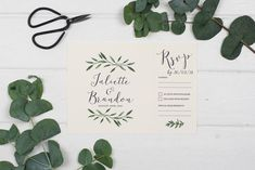 Rustic Wedding Invitation - A5 Natural Woodland