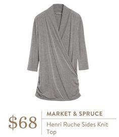 Ideas - Market & Spruce Henri Ruche Sides Knit Top - Stitch Fix  LOVE LOVE LOVE THIS!!!!!