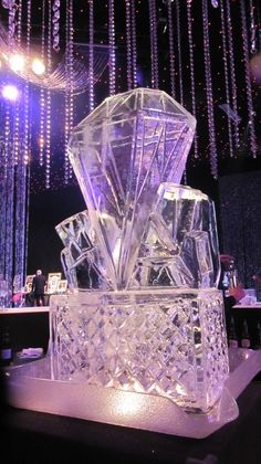 diamond ice sculpture | Funky Ice - Producers of Ice Sculptures, Vodka Ice Luges, Buffet ...