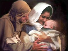 I love this picture of how Joseph, Mary and baby Jesus portrayed.