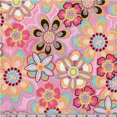 Amazon.com: Michael Miller Flower Crystals Pink Fabric: Arts, Crafts & Sewing