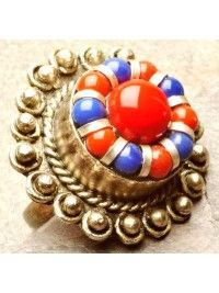 Anel Tibet Coral