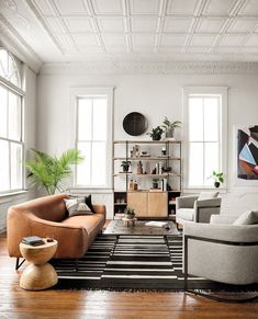 77 Bring The Charm Of The Modern Living Room Interior Into Your Home 1 - dougryanhomes Home Interior, Living Room Interior, Living Room Furniture, Tan Sofa Living Room Ideas, Simple Interior, Living Room White Walls, Black And Cream Living Room, Natural Modern Interior, Brown Interior