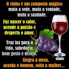 Vinho é um composto mágico