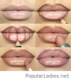 Step by step how to make your lips appear fuller MAC Spice Lip Liner ● MAC Honeylove Lipstick ● MAC Oyster Girl Lipglass lip tips Mac Spice Lip Liner, Mac Lip Liner, Younique Lip Liner, Eye Liner, Lip Contouring, Contour Eyes, How To Apply Lipstick, Eye Makeup Tutorials, Makeup Tutorials