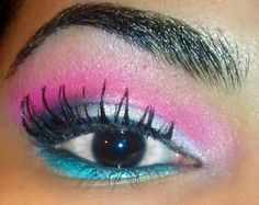 Pretty in Pink eyeshadow makeup look eotd motd lotd