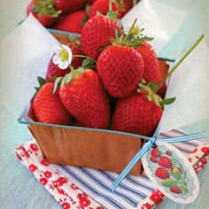 Add a vintage touch to containers of fresh summer berries by attaching this colorful tag with ribbon or cording. Write your guests' names on the tags to use as place cards, or present the berries as party favors at the end of the evening.